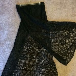 Black Lace Inspired Maxi Skirt
